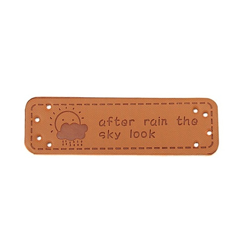 19-가죽라벨[after rain the sky look]/5*1.5cm/10개입
